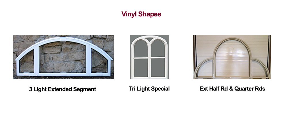 Millcraft Vinyl Window Shapes