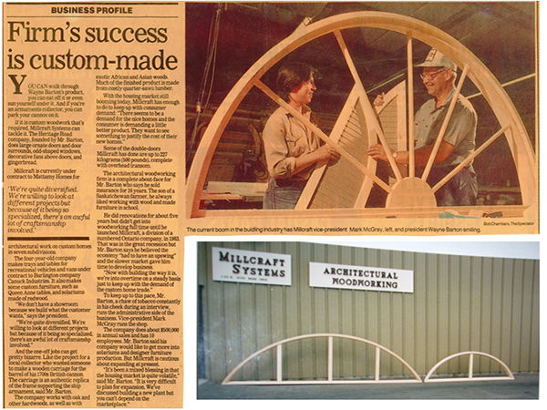 Millcraft Systems Inc. Success History