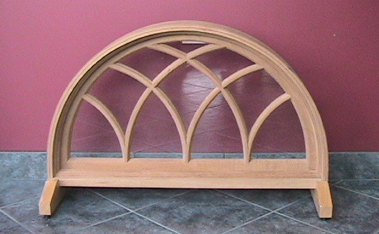 Curved Wood Window with Wood SDL