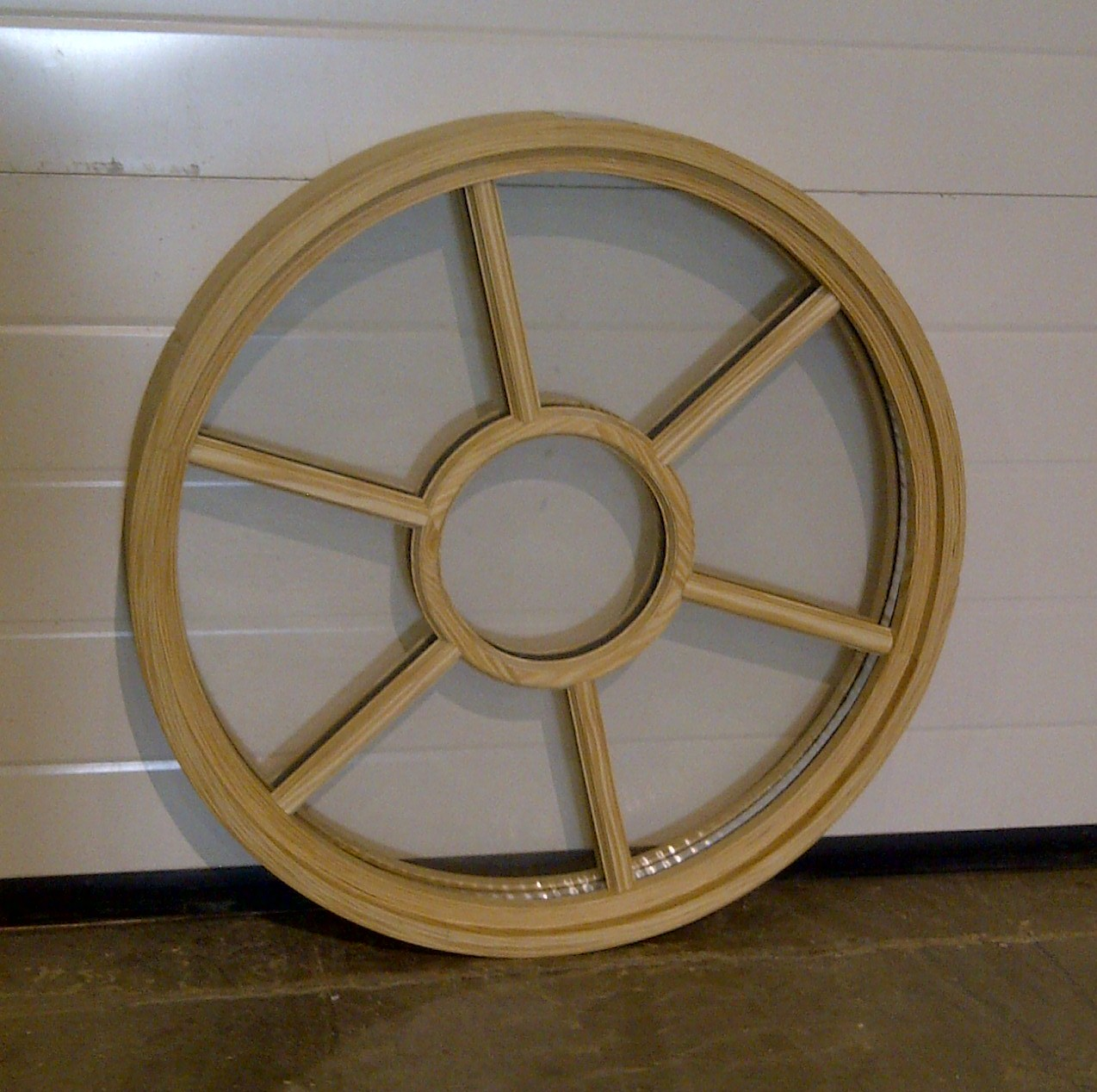 Wood Circle Window with SDL & Glass