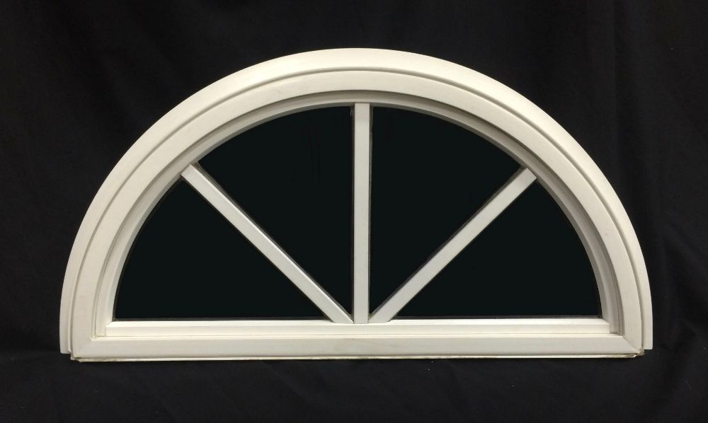 False Window Panel Half Round with Spokes