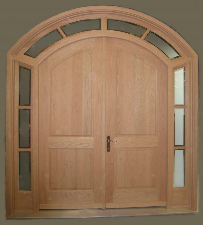 Arch Top Double Entry Door