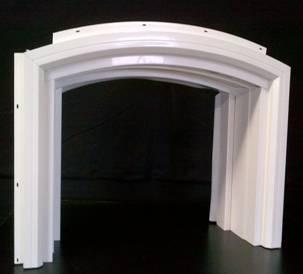 Millcraft Arched Vinyl Garage Door Frame